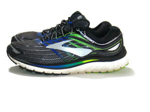 Brooks Sneakers Black Blue Gray Glycerin 15 Road Running Lace Up Mens 10 1102581