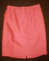Pencil Skirt -J. Crew Dot Brocade  - Pink Polka Dots - SZ 4 Small EUC