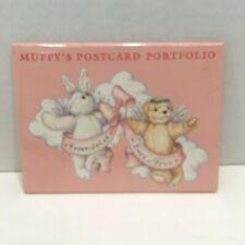 Vintage 1991 Muffy Vanderbear Postcard Portfolio Collection 3 Designs 9 Cards