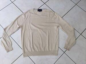 Pull FACONNABLE taille S/M coton beige tres bon etat