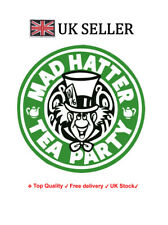Mad Hatter Iron on Screen Print fabric heat press Machine Washable Transfer tea