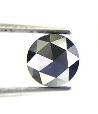Big 0.93TCW 6.0 MM Z Black Round Rose cut Loose Natural Diamond Valentine Gift