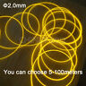 Side Glow Fiber Optic Cable 5 meters 2.0mm  Decorative car lights Optic Fiber