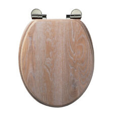 Roper Rhodes Traditional Soft-Closing Solid Limed Oak Toilet Seat 8081LISC