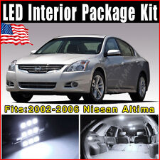 15X Xenon White LED Lights Interior Package Kit Fit for 2002-2006 Nissan Altima