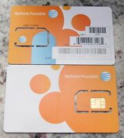 AT&T OEM STANDARD 4G LTE sim card   NEW UNACTIVATE,
