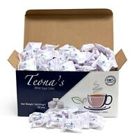 Teona's White Sugar, Individually Wrapped White Sugar Cubes, (152 Cubes)