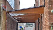 Cantilever Carport Canopy System Fitted 6m X 2.5m Light Oak/caramel