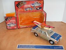 1970s Aladdin Toys Battery Operated Mercedes With Wind Surfer, W/Box, Nos