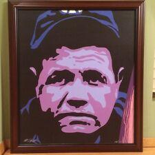 BABE RUTH Giclee on Canvas Bill Lopa SIGNED Framed New York NY Yankees Baseball