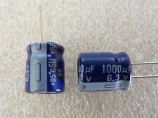 5 condensateurs 1000uF 6,3V Panasonic SU