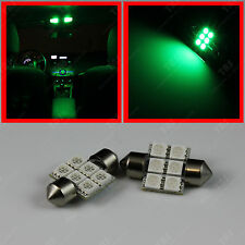 "2x Green 6-SMD 1.25"" DE3175 31mm Festoon LED Lights Bulb for Dome Map Reading"