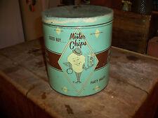 Vintage Mister Chips Party Snacks Tin 1961 Cincinnati, Ohio