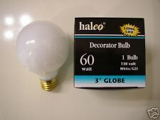 10-lot Halco 60W G25 White Long Life Globe Light Bulb