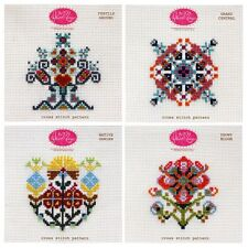 Anna Marie Horner Cross Stitch Pattern Set 2: Four Floral Designs Garden Bloom