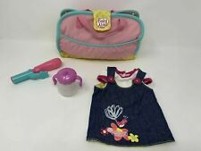Baby Alive Diaper Bag For Doll Denim Outfit Sippy Cup Hair Clip