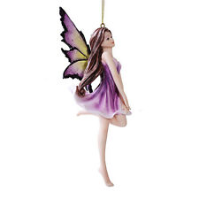 Dancing Purple Lilac Flower  Fairy Ornament Figurine Hanging Faerie Home Decor