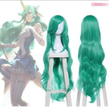"League of Legends LOL Soraka Star Guardian 40"" Wavy Green Cosplay Full Wig zz8"