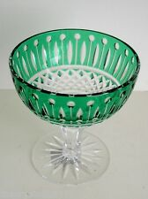 AJKA KING LOUIS / XENIA EMERALD CASED CUT TO CLEAR CRYSTAL CHAMPAGNE  ICE CREAM