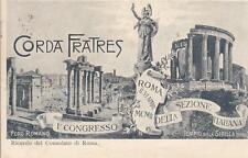 A8184) ROMA 1902, CORDA FRATRES, CONGRESSO DELLA SEZIONE ITALIANA. VIAGGIATA.