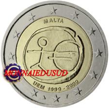 2 Euro Commémorative Malte 2009 - 10 Ans de l'Euro EMU