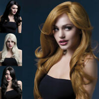 "Fever Nicole Wig 26"" Soft Wave with Side Parting Womens Fancy Dress Costume"