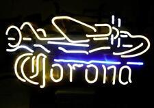"Corona Plane Beer Bar Neon Light Sign Real Neon Display Store Bar Pub20""X16""E103"