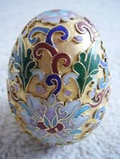 Franklin Mint Treasury of Eggs gold Cloisonne Metal Enamelled Decorative Egg
