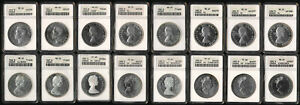 (1949-1992) 16 CANADA SILVER DOLLARS > ALL ANACS MS & PROOF > SEE PICS > NO RSRV