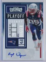 KYLE DUGGER - 2020 Contenders PLAYOFF Rookie Ticket AUTO /99 - Patriots RC
