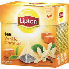 LIPTON Vanilla Caramel 6 x 20 bags= 120 pyramid tea bags sealed boxes