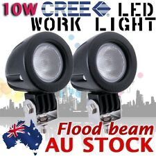 2X Round 10W Cree LED Work Light 800lm  Flood Lamp 12V 24V Boat ATV Bike AU SHIP