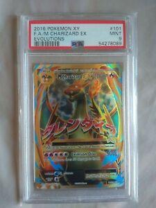 M CHARIZARD EX 101/108 POKEMON EVOLUTIONS PSA 9 FULL ART CARD
