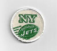"""1960's New York Jets patch old logo 2"""" patch vintage AFL era white"""