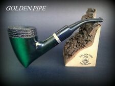 HAND MADE WOODEN TOBACCO SMOKING PIPE  no 68  Tomahawk  Rustic Green + Filter