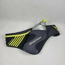 Nathan Running Essentials Exercise Belt water bottle BLK w/green