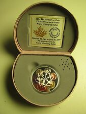 2014 Proof $20 75th Anniversary Royal Winnipeg Ballet Canada .9999 silver twenty