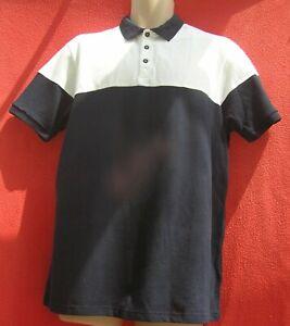 BNWT size L BURTON short sleeve cotton polo shirt navy and white RRP £18.