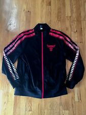 Chicago Bulls Adidas NBA Warm Up Red and Black Track Jacket - Men's M