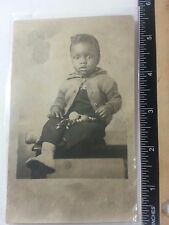 Vintage African Americana picture of adorable little boy