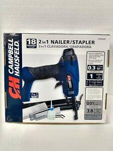 *NEW* Campbell Hausfeld 18 Gauge 2-in-1 Nailer Stapler AT802000
