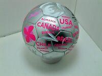 FIFA 2014 Brazil world cup Silver Pink White soccer ball size 3 sz international