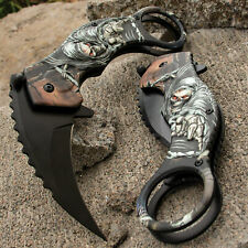 GRIM REAPER Spring Assisted Open FOLDING KARAMBIT Pocket Knife Claw Tactical EDC
