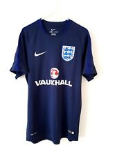 England Training Shirt. Small Adults. Nike. Blue Short Sleeves Football Top Only