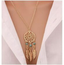 Stunning Gold Dreamcatcher Necklace Boho Jewellery Protect Stocking Filler A782