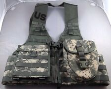 ACU Fighting Load Carrier Lot w/ E-Tool Carrier + Admin Pouch, US Army, FLC