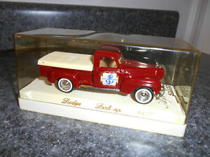 SOLIDO 1950 DODGE PICKUP AGE d'or ( Golden Age) 1:43 SCALE MAROON w/ CASE & BASE