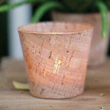"New 3"" Rustic Modern Cork Textured Glass Votive Candle Holder or Bud Flower Vase"