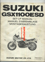 Suzuki GSX1100ES-D (1983 >>) Genuine Dealers Set-Up Manual GSX 1100 ES 1074 BZ82