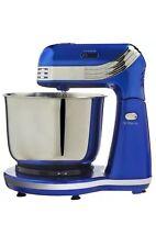 Mezcladora SOPORTE Compacto Azul Metálico eléctrico 6 velocidades 250W-Cocina Pastel Batidor Nuevo